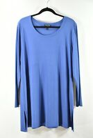 NEW Eileen Fisher Silk Jersey Tunic in Blue - size 1X #T945