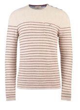 New! TED BAKER Beige Maroon SLUBNUT Jacquard Sweater Jumper Sz 6 And 7 UK