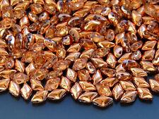 100g GemDuo Beads Crystal Capri Gold WHOLESALE