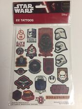Disney Star Wars Stickers 22 Temporary Tattoos New Chewbacca First Order