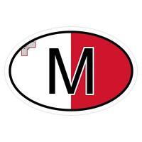 Malta M - csd0327 Autoaufkleber Sticker Aufkleber KFZ Flagge