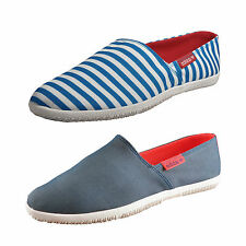 df8f1a6613a1 Mens Blue Espadrille Canvas adidas Slip on Shoes D65798 Adidrill UK 6.5
