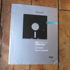 Microsoft MS DOS 5.0 Concise User's Guide English Intel 701023-002 Paperback