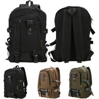 Unisexe Sac à Dos en Bandoulière Rétro Voyage école SCchool Backpack Canvas Bag