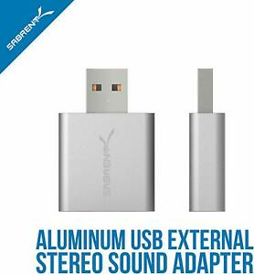 Sabrent AU-EMAC USB 2.0 - 3.5mm External Stereo Sound Adapter 2.1 Sound Channels