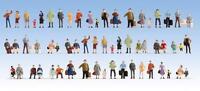 Noch 18401 - Mega Economy Pack 60 x Pre-Painted Figures H0/00 Gauge - T48 Post