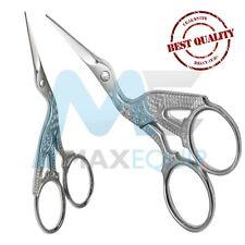 Cuticle NAIL Scissors Eyebrow Facial HAIR Grooming Scissors SEWING Silver STORK
