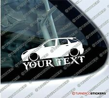 Custom Text ,LOW Ford Focus Mk1 5-DOOR lowered , Stanced car sticker / Decal