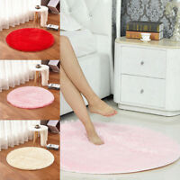 Rond Tapis Salle Bain Chambre Shaggy Peluche Antidérapant Mat Absorbant Yoga NF