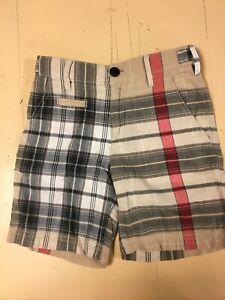 EUC Authentic BURBERRY Boy or Girl NOVA CHECK SHORTS  Size 5Y