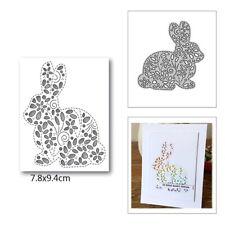 Hollow Easter rabbit Cutting Dies Stencil Scrapbooking DIY Album Paper Card