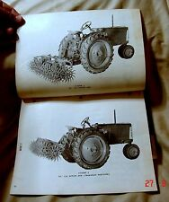 Vintage Oliver Corporation No. 320 Rotary Hoe Operating Instruction - Ca 1950's!