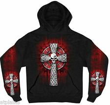 Sweat capuche SKULL CELTIC CROSS - Taille M - Style BIKER HARLEY