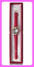 WATCH Wristwatches CLOCK RED glass MURANO MURRINE leather strap by MORBIDEIDEE
