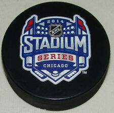 Lot of 10 pucks - 2014 NHL Stadium Series Chicago Sherwood Souvenir Game Pucks