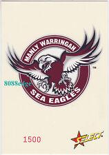 2005 SELECT NRL CLUB LOGO JUMBO: MANLY SEA EAGLES #1500/1500 LAST CARD MADE 1/1