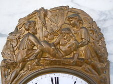 Fronton laiton estampé pendule horloge Mise au tombeau Gervy Lamastre
