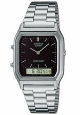 Casio Classic AQ-230A-1DMQ Black Dial Silver Stainless Steel Watch