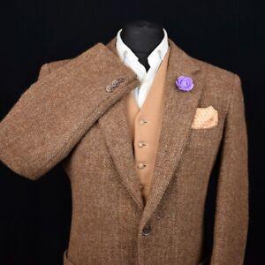 Harris Tweed Tailored Country Herringbone Blazer Jacket 42R #508 SUPERB COLOUR