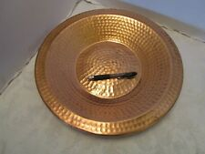 Hammered Solid Copper bowl Centerpiece fruit Sertodo style 14 5/8� across