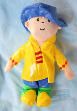 "Caillou plush 9"" doll - Cookie Jar 2007 - Caillou wearing a Rain Coat"