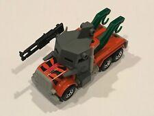 Matchbox 1981 Peterbilt Tow Truck Orange with Armor Hot Wheels RARE