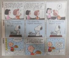 """(230) """"Peanuts"""" Dailies by Charles Schulz 2001 Size: 2 x 6 inches Full Color!"""