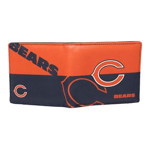 Chicago Bears NFL Men's Printed Logo Leather Bi-Fold Wallet