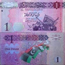 LIBYA 2013 1 DINAR POST GADDAFI UNCIRCULATED BANKNOTE P-76 FROM A USA SELLER !!