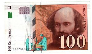 France Billet  100 FRANCS  1997 - 1998 PAUL  CEZANNE  ( 1839 - 1906 ) BON ETAT
