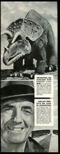 1940 Triceratops dinosaur pic Sinclair oil gas vintage print ad