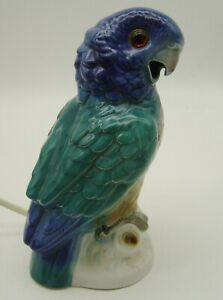 amazing old porcelain perfume lamp Parrot
