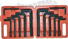 12pc JUMBO METRIC SAE Hex Keys Set Allen Wrenches MM Standard Large Tools