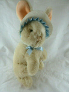 "Applause Vintage Korea Bunny Rabbit in Easter Bonnet 11"" plus ears"