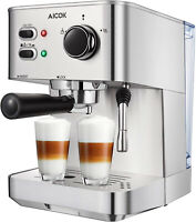 Espresso Machine, Cappuccino Coffee Maker with Milk Steamer Frother, 15 Bar and