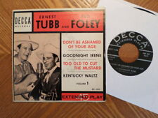 "DECCA  7"" 45 EP RECORD ED 2024/ERNEST TUBB/RED FOLEY/VOLUME 1/ EX HILLBILLY"