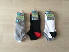 6 Pairs of Mens' Breathable low cut Polyester Gym socks B/W/Gray/Red