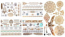5 x 10 Blätter = 50 Sheets GOLD Flash Tattoos Temporary Tattoo > SONDERPOSTEN <