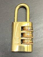 Auth Louis Vuitton Dial Lock Cadena Padlock #729