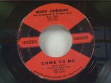 "MARV JOHNSON ""COME TO ME / WHISPER"" 45"