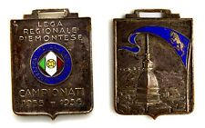 Medaglia Con Smalti Federazione Italiana Giuoco Calcio Lega Regionale Piemontese