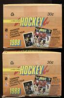 (2) 1988 OPC O-Pee-Chee Hockey Yearbook Sticker Wax Box 48 unopended packs