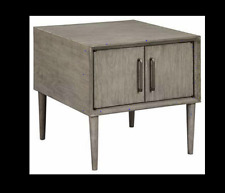 Signature End Table, Gray (Light Brown) Conditon New