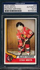 1974 Topps #20 Stan Mikita PSA/DNA Certified Authentic Auto Signed *9026