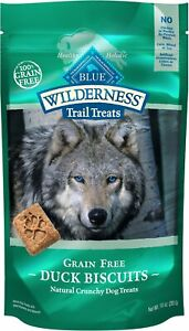 Blue Buffalo Wilderness Trail Treats Grain-Free Biscuits Duck Recipe 10 oz