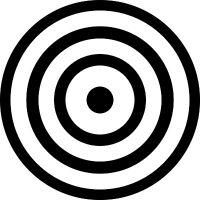(2) Set of Bullseye Toilet Aiming Target Diecut Vinyl Decal Sticker Car Window