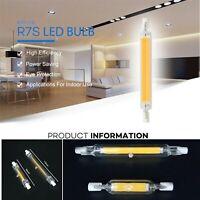 LAMPADA LAMPADINA LED R7S cob LUCE 78/118mm 220V 5W 10W 15W 20W tubo di vetro.