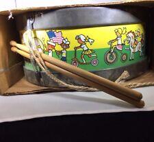 SNARE DRUM & DRUMSTICKS # 1872 ~ CHEIN PLAYTHINGS, BURLINGTON NJ ~ ORIGINAL BOX!