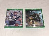 2 XBOX ONE Games Madden NFL 17 Titanfall 2 Brand New Sealed