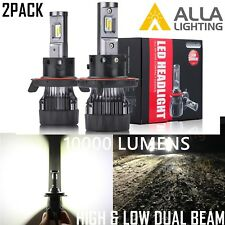 Alla Lighting 10000lm H13 LED High Low Dual Beam Headlight Light Bulb Lamp,White